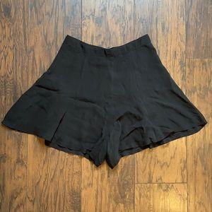 Reformation Black High Waisted Sheer Shorts